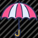 forecast, protection, rain, secure, umbrella, weather icon