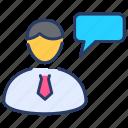agent, avatar, broker, businessmen, employee, insurance, profile icon