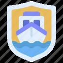 boat, insured, ship, speedboat icon