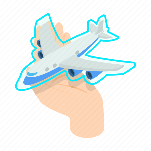 cover, hand, insurance, isometric, plane, protect, sign icon