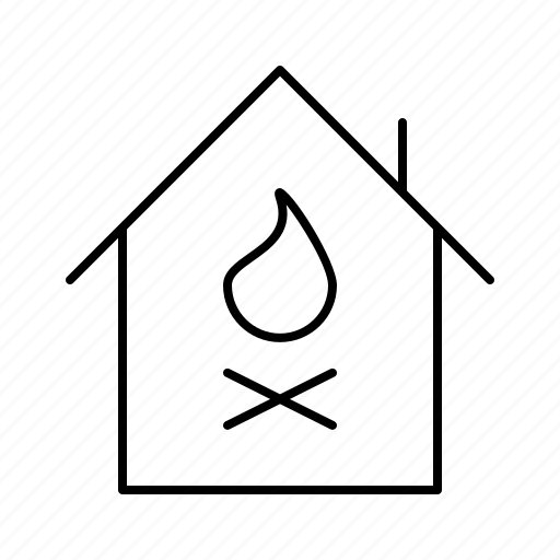 damage, fire, guarantee, house, insurance, promise, protection icon