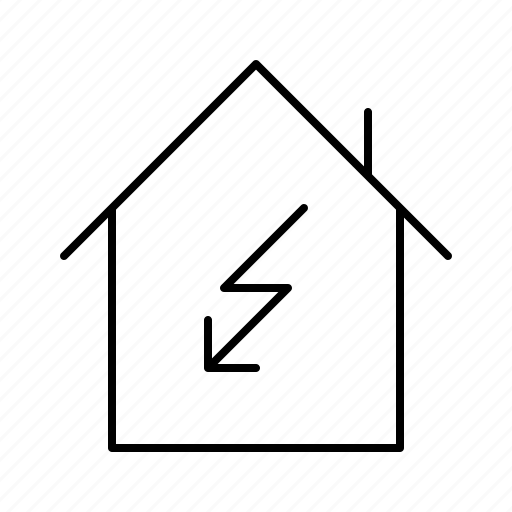 damage, electricity, flash, guarantee, house, insurance, protection icon