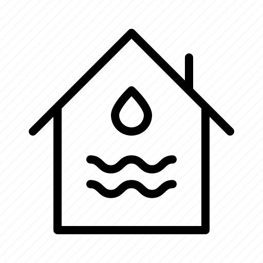 damage, guarantee, house, insurance, promise, protection, water icon