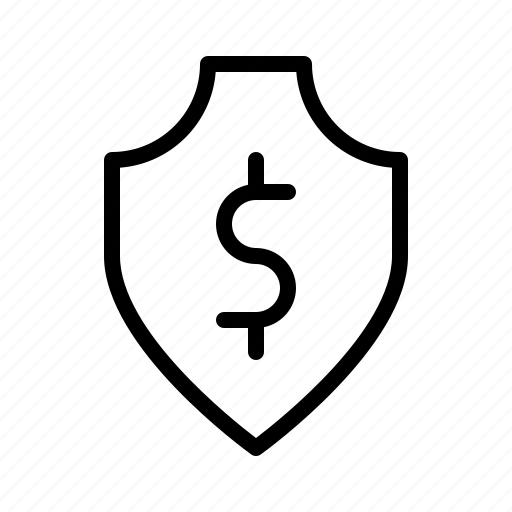 dollar, guarantee, insurance, promise, protection, shield icon