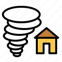 diaster, home, house, insurance, property insurance, storm icon