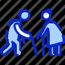 long term care, bonus, old age benefits, insurance benefits icon