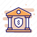 bank, financing, insurance, protection, security icon