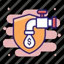 insurance, loss, pressure, stop, supervision icon