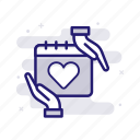 care, insurance, permanent, protection icon