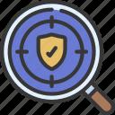 niche, cover, insured, specific icon