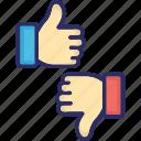 dislike, emojis, hand gestures, like