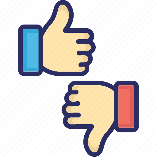 dislike, emojis, hand gestures, like icon