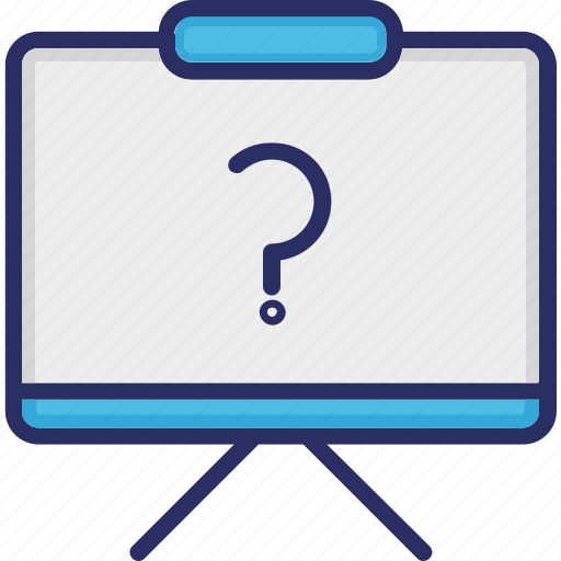 preferences, question, question mark, whiteboard icon