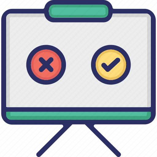projector, rating, review, whiteboard icon