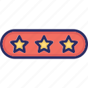 performance, quality, rating, stars icon