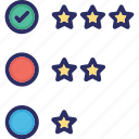 interaction, performance, rating, star icon