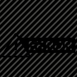 alert, error icon