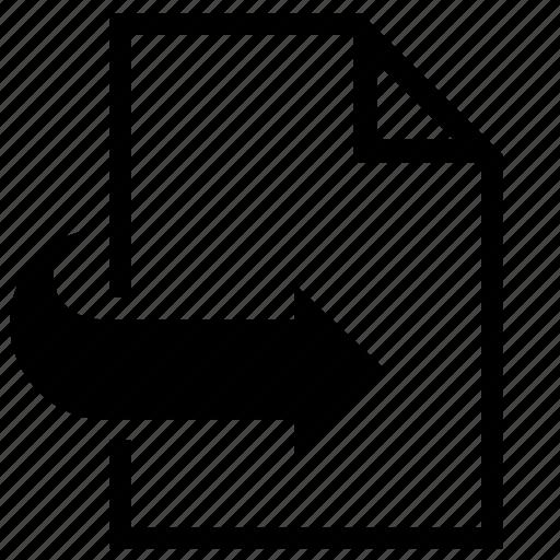 forward, import icon