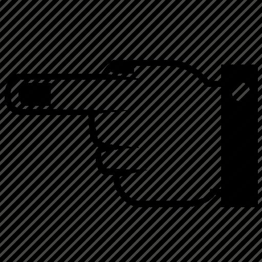 finger, left, previous icon