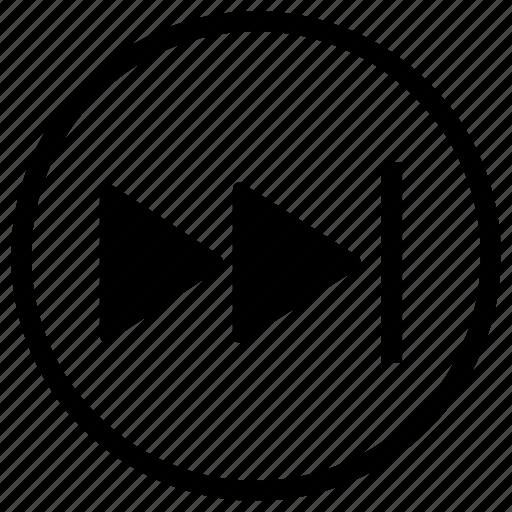end, forward, next icon