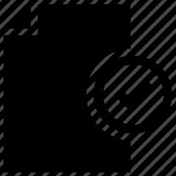 document, verification icon