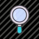 magnifying, optimization, seo, seo icon, web icon icon