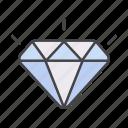 brilliant, diamond, minimalize, shiny icon