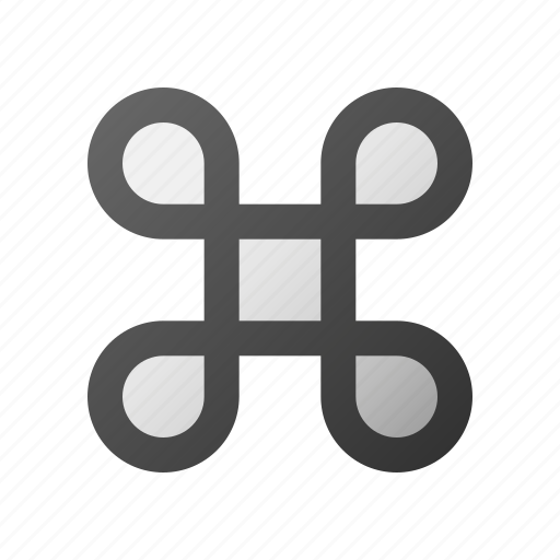 apple, command, computer, desktop, key, keyboard icon