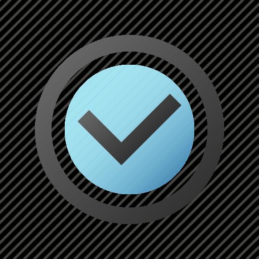 accept, check, checkmark, ok icon