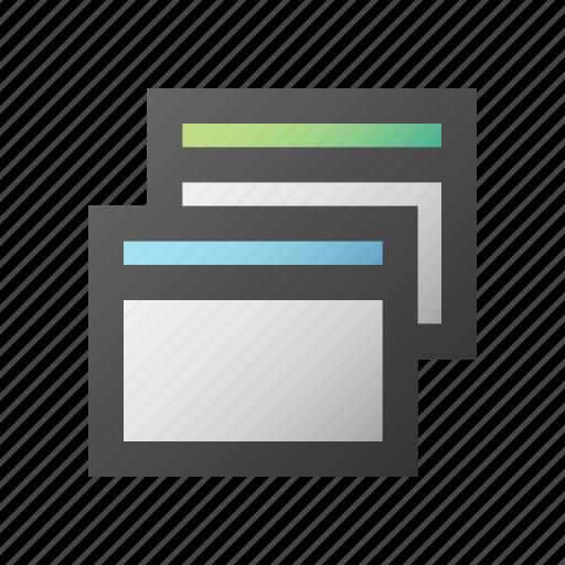 restore, screen, view, window icon