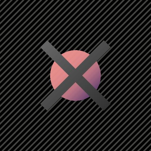 cancel, close, cross, delete, remove, trash icon