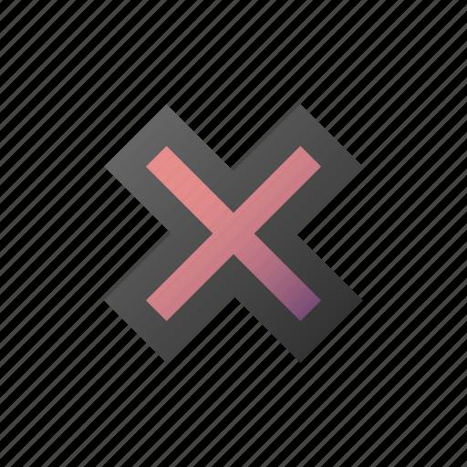cancel, close, cross, delete, remove icon