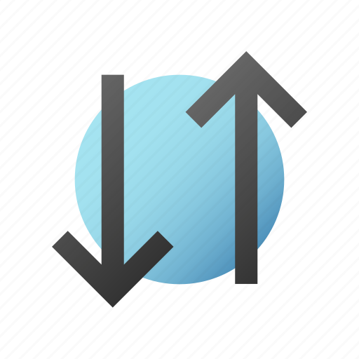 arrow, connection, data, internet, network, transfer icon