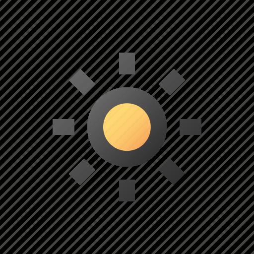 bright, brightness, dim, lamp, light, sun icon