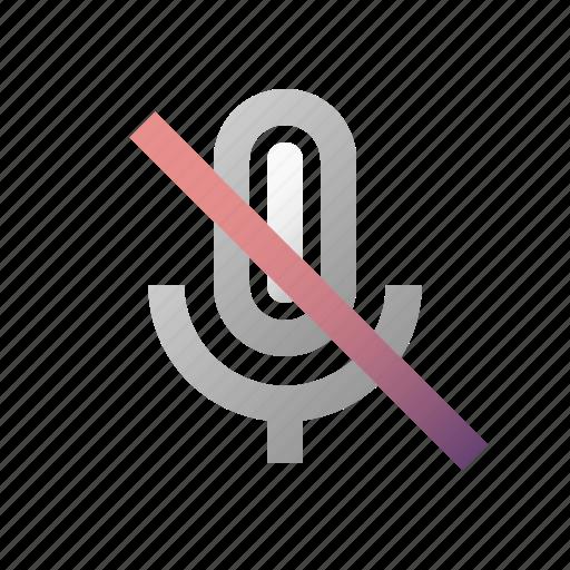 mic, microphone, off, record, recording, sound, speaker icon