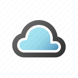cloud, computing, forecast, network, server, storage icon