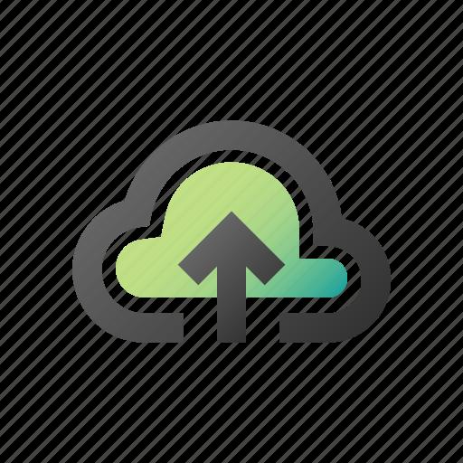 backup, cloud, computing, data, database, storage, upload icon