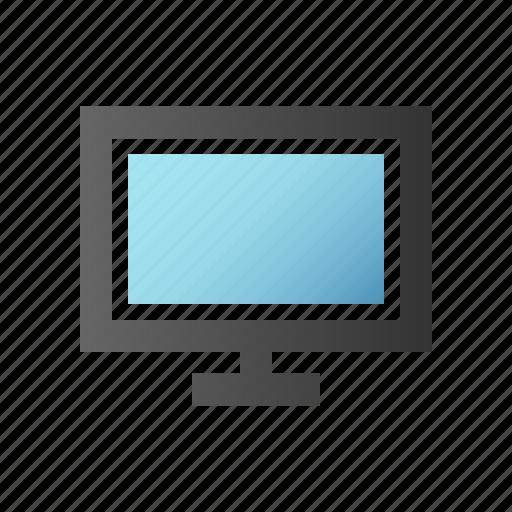 computer, desktop, display, hardware, monitor, screen, tv icon