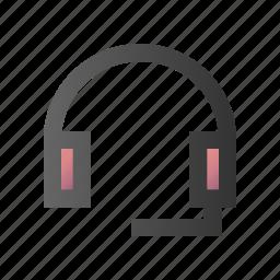 audio, earphone, headphone, headset, sound, support icon