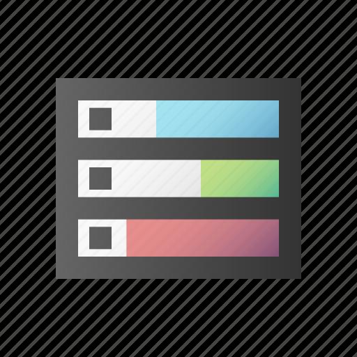 database, disk, drive, harddisk, memory, server, storage icon