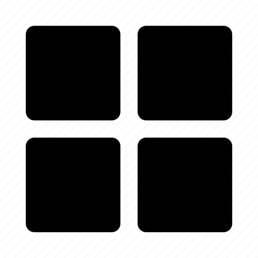 grid, products, squares, structure, view, web icon