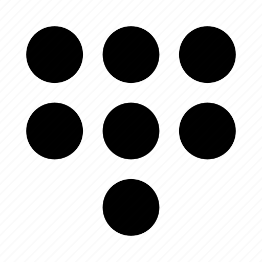 dots, menu, numbers, phone icon