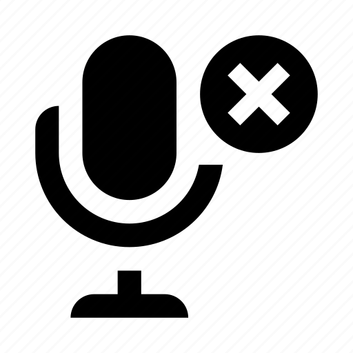 audio, broken, interface, microphone, off, record, ui icon