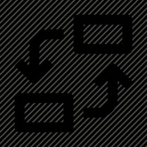 arrow, item, replace icon