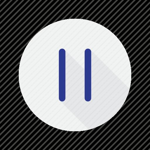 interface, music, pause icon