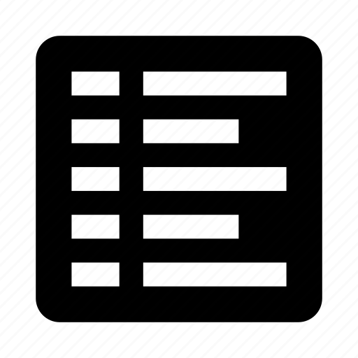 align, alignment, left, list, text icon