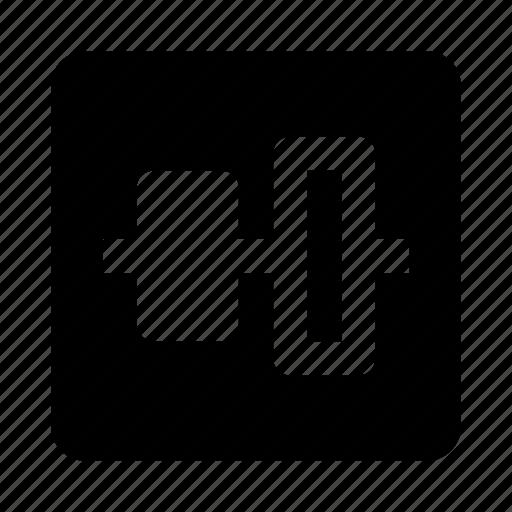 align, alignment, center, vertical icon