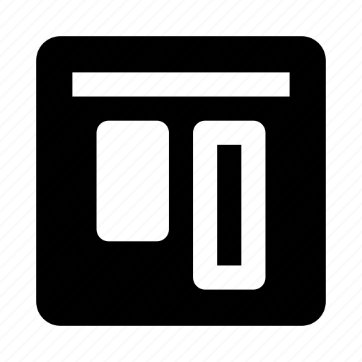 align, alignment, top, vertical icon