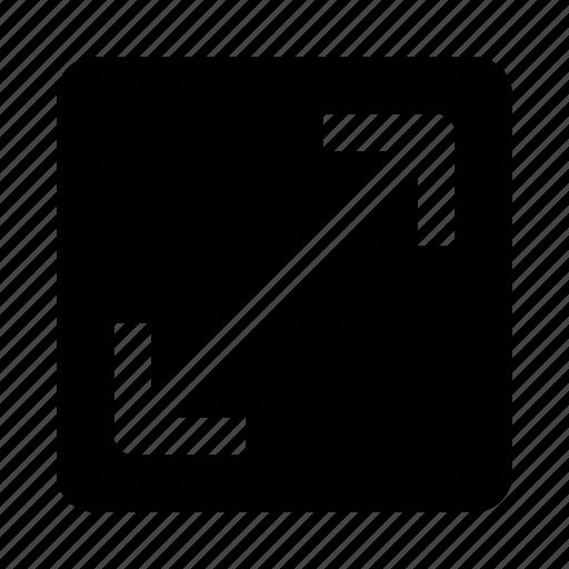 arrow, expand, stretch icon