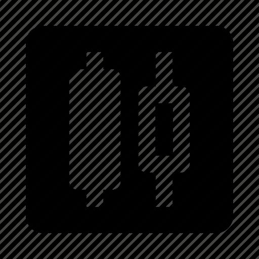 alignment, center, distribute, horizontal icon